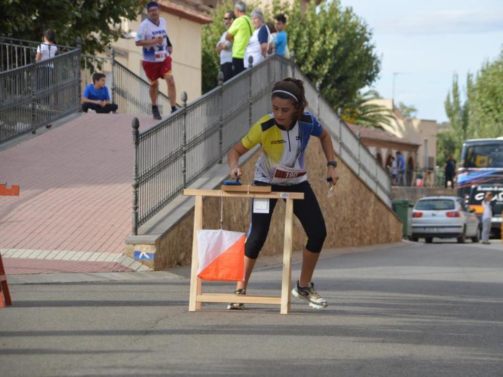 Una competidora del Club Ibón en la prueba sprint celebrada en Cosuenda