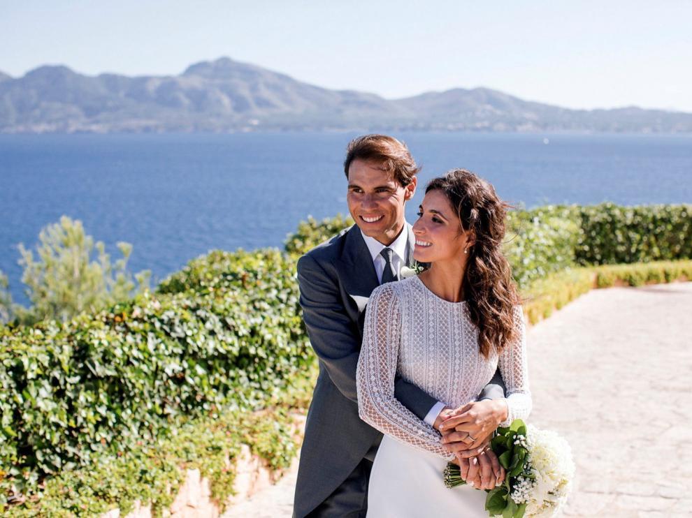 Posado de boda de Rafa Nadal y Mery Perelló