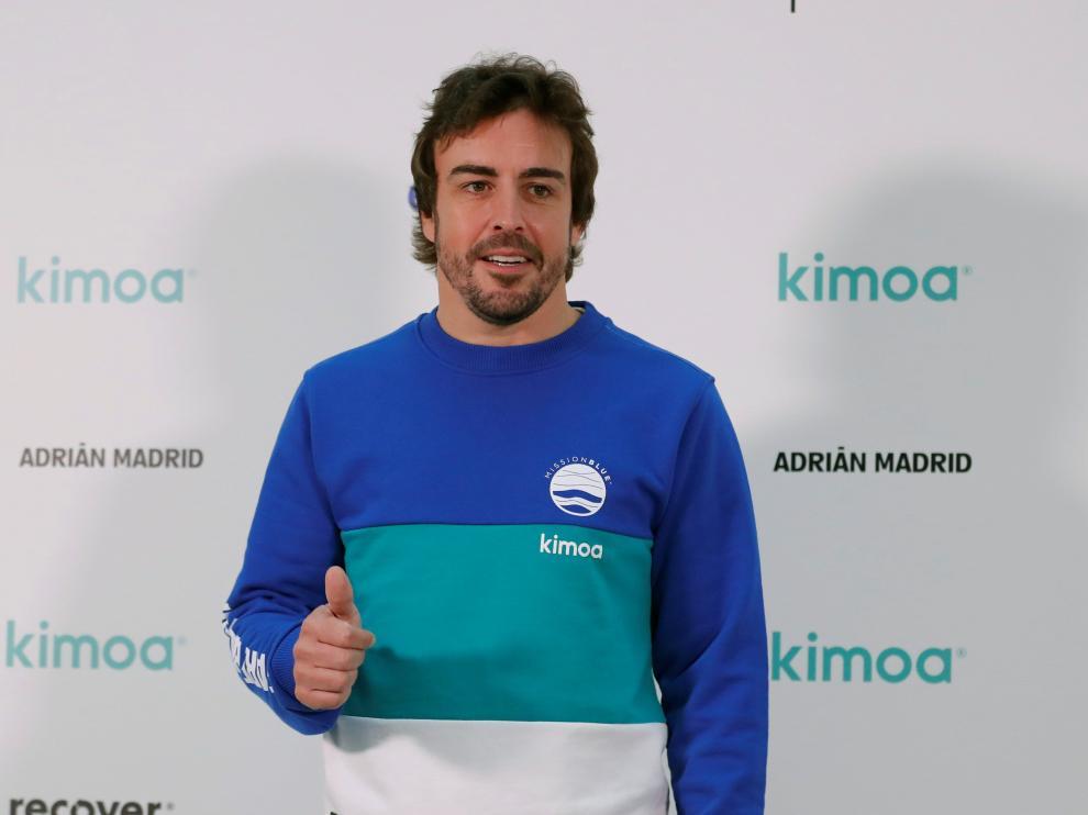 """El doble campeón del mundo de Fórmula Uno, Fernando Alonso, presenta el proyecto """"Mission Blue x Kimoa"""" en la sede de eBay en Madrid"""