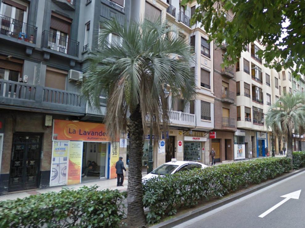 Zona de la calle de Conde Aranda en la que se ha producido el incendio.