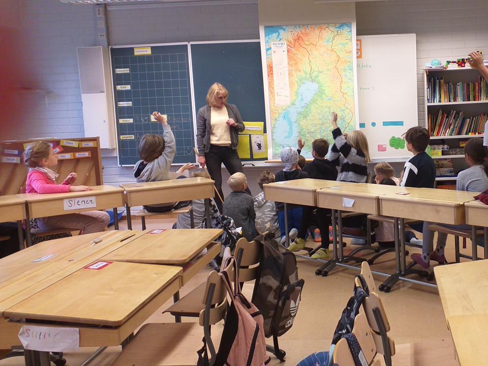 Uno de los colegios finlandeses visitados por los docentes de Calatayud
