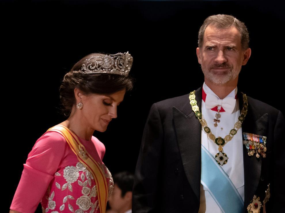 Los Reyes de España, en la ceremonia de entronización del emperador Naruhito