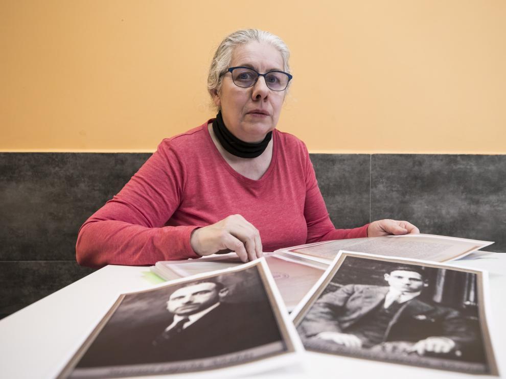 Pura Lapeña, nieta de uno de los fallecidos del valle de los Caídos, que tiene reconocido por un juez su derecho a exhumar al enterrado desde 2016