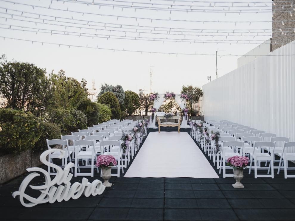 Terrazas para bodas en el Hotel Palafox