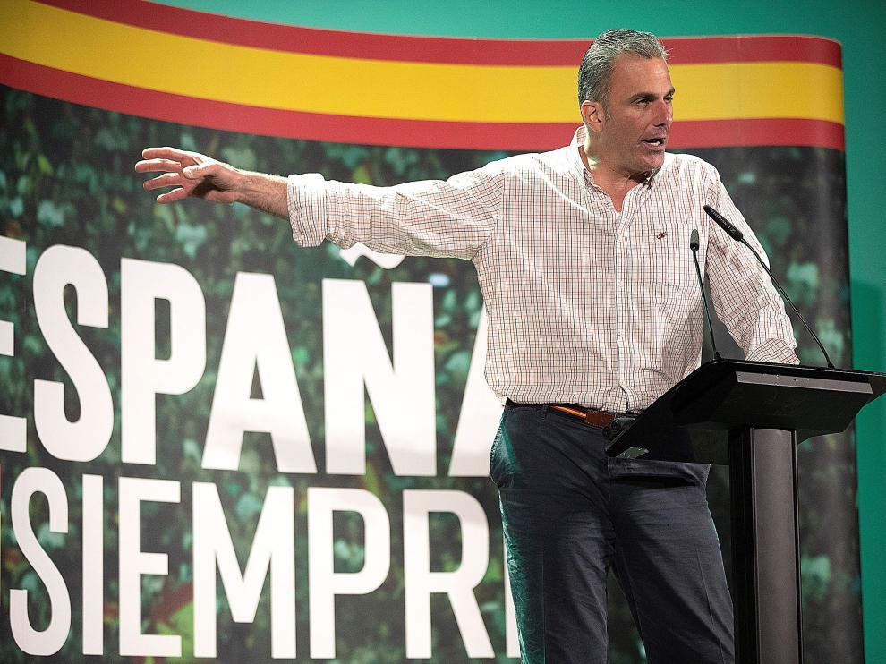 Javier Ortega Smith, en un acto en Teruel.