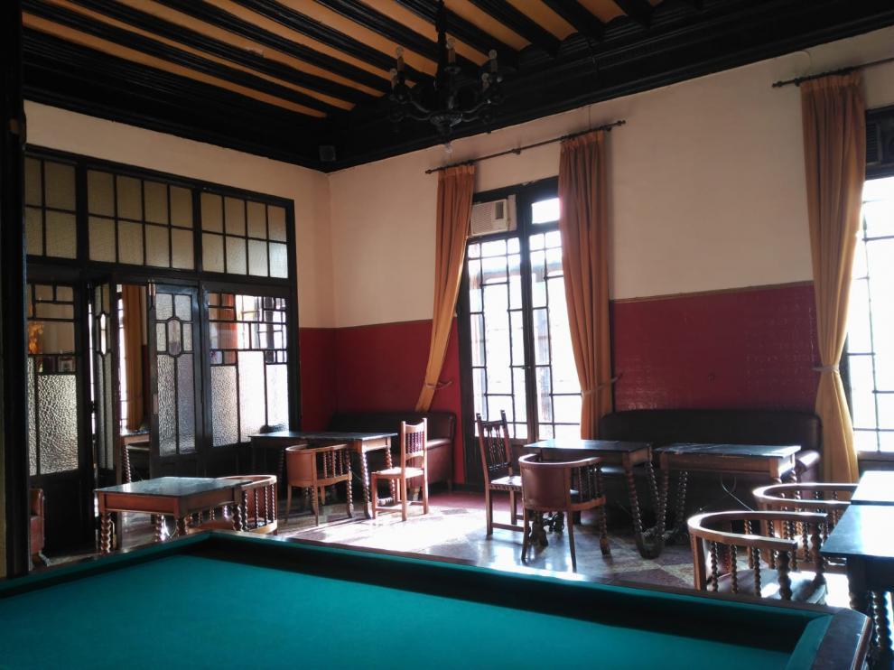 La sala del casino de Daroca es uno de los espacios del catálogo.