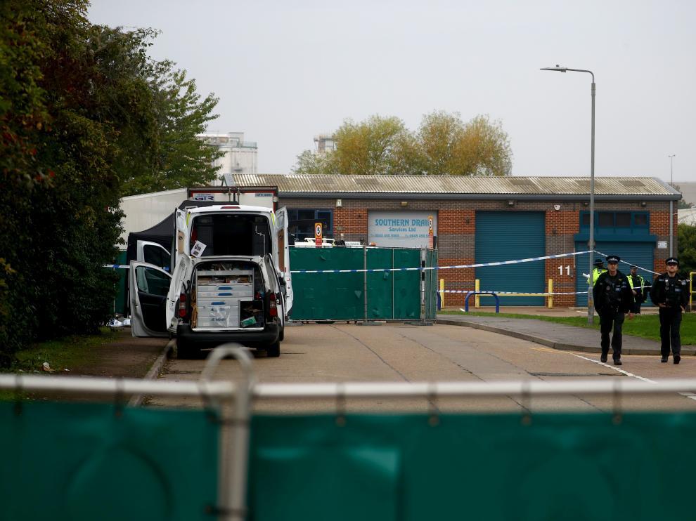 Lugar donde ha sido descubierto el camión con los cadáveres