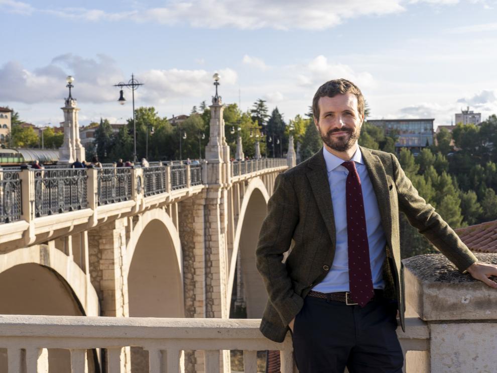 Entrevista a Pablo Casado en Teruel.