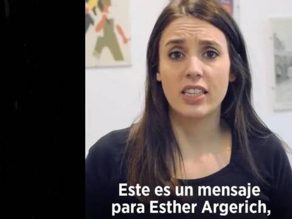 Captura del vídeo de Irene Montero sobre el precio del alquiler