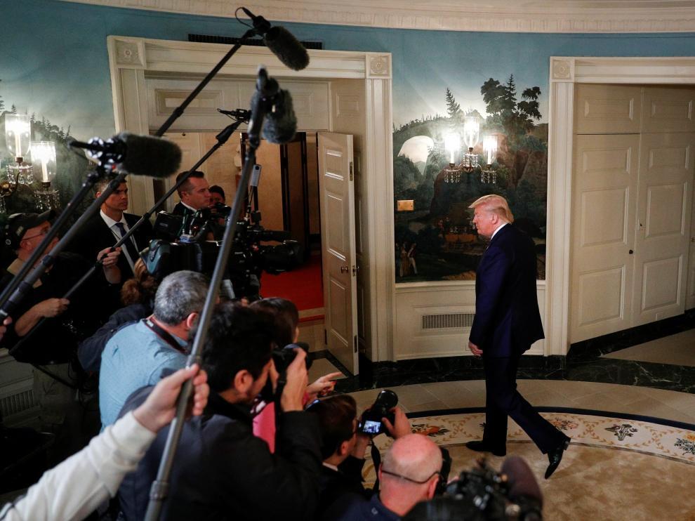 Donald Trump, tras una reunión en la Casa Blanca sobre el conflicto en Siria.