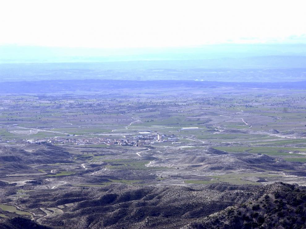 Panorámica de la Sierra de Alcubierre, en el corazón de Los Monegros.