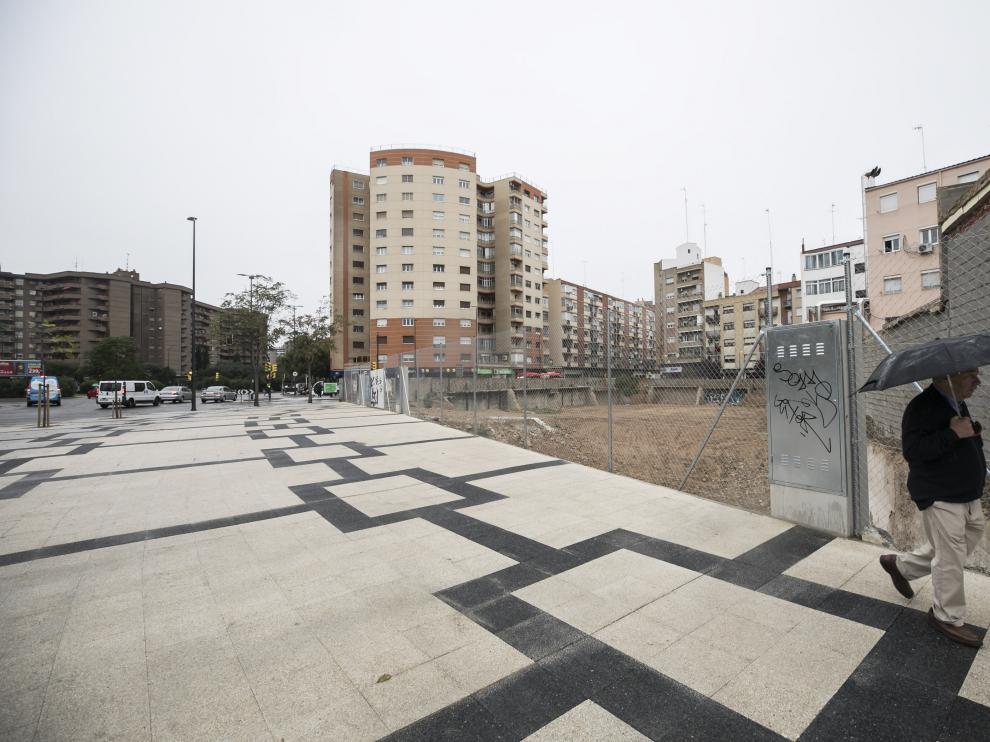 Recientemente se ha trabajado en el solar que hace esquina con la avenida de San José, propiedad del colegio Agustín Gericó.