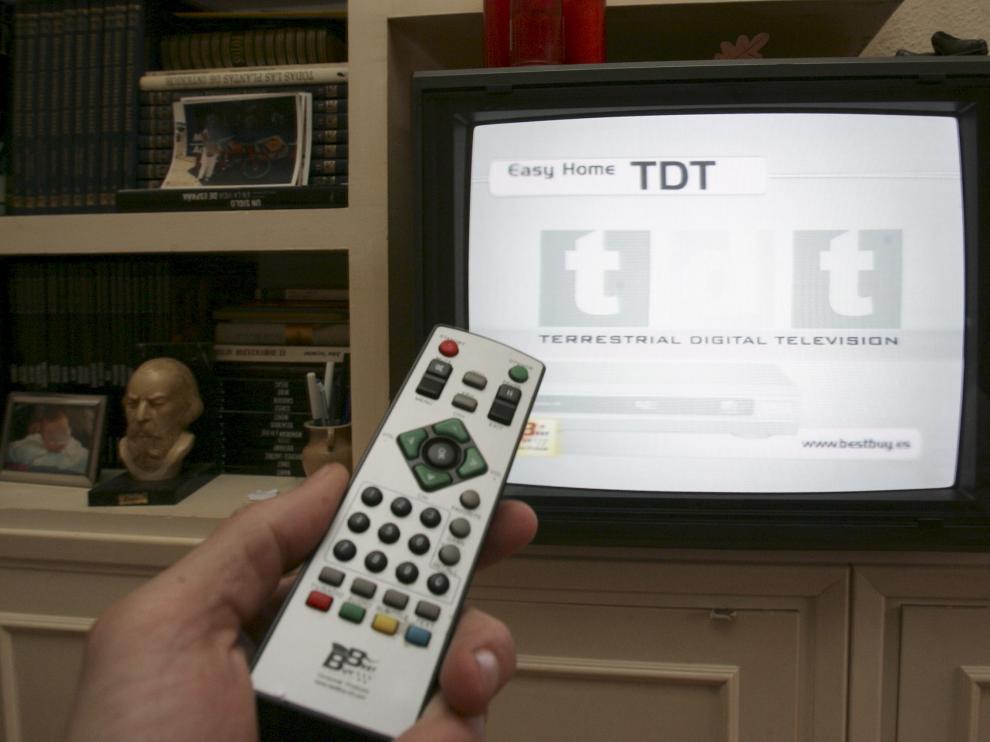 Resintonización de una televisión.