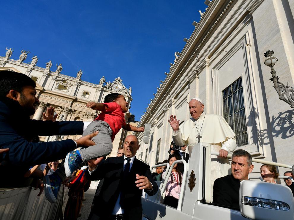 El papa Francisco, el miércoles en la plaza de San Pedro.