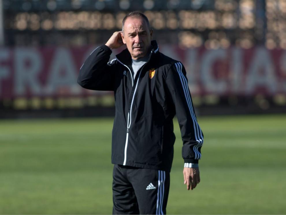 Víctor Fernández, este viernes en la Ciudad Deportiva.