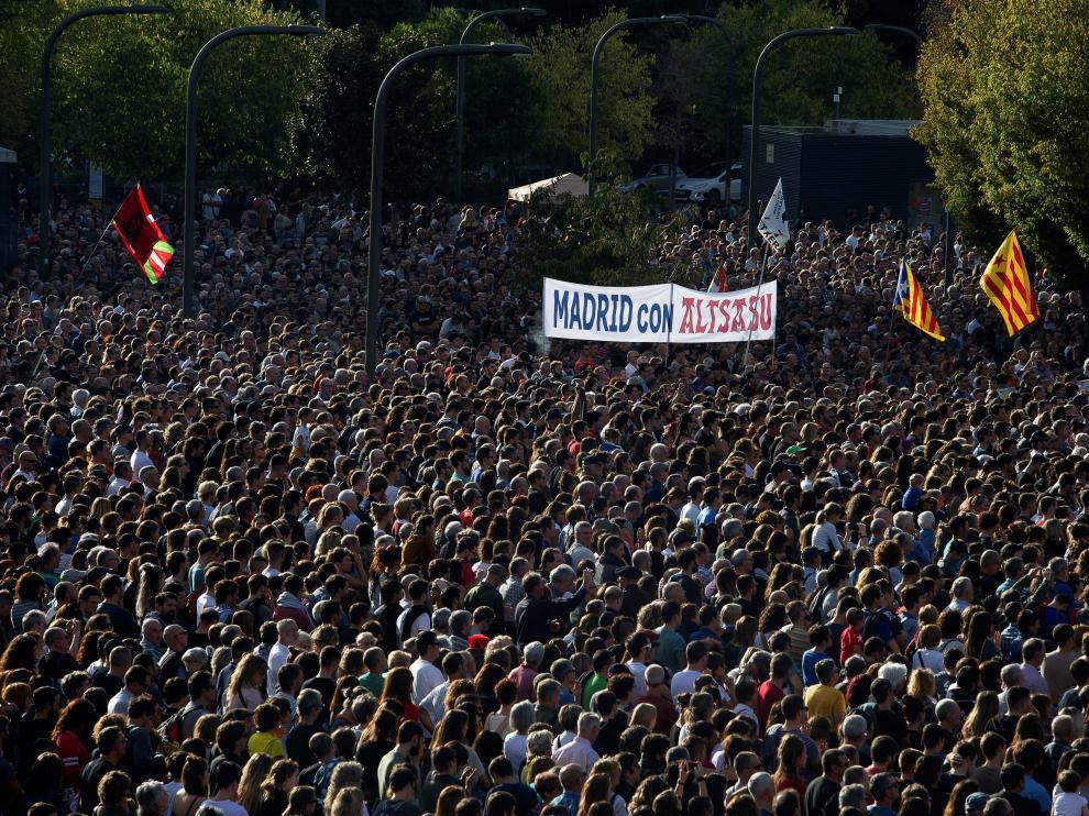 Concentración en Pamplona.
