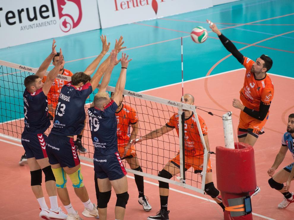 Superliga Masculina de Voleibol CV Teruel-Emeve Lugo /2019-10-19/ Foto: Jorge Escudero [[[FOTOGRAFOS]]]