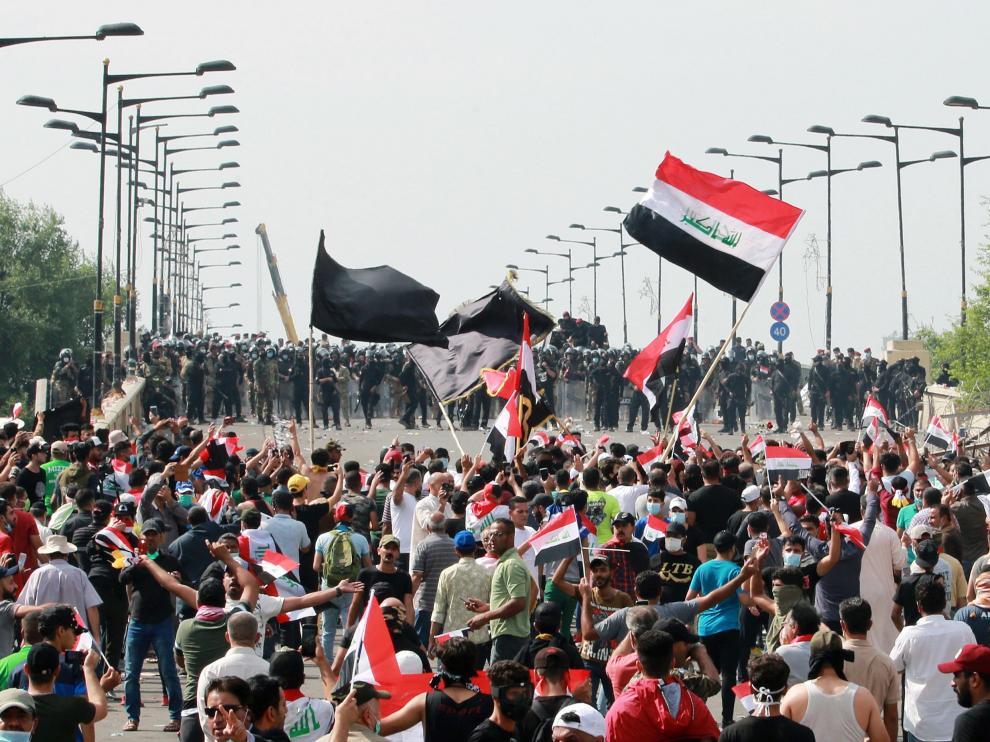 Protestas iraquíes.