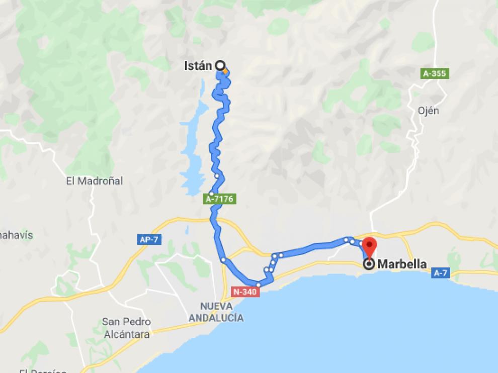 El cadáver se ha hallado entre Istán y Marbella