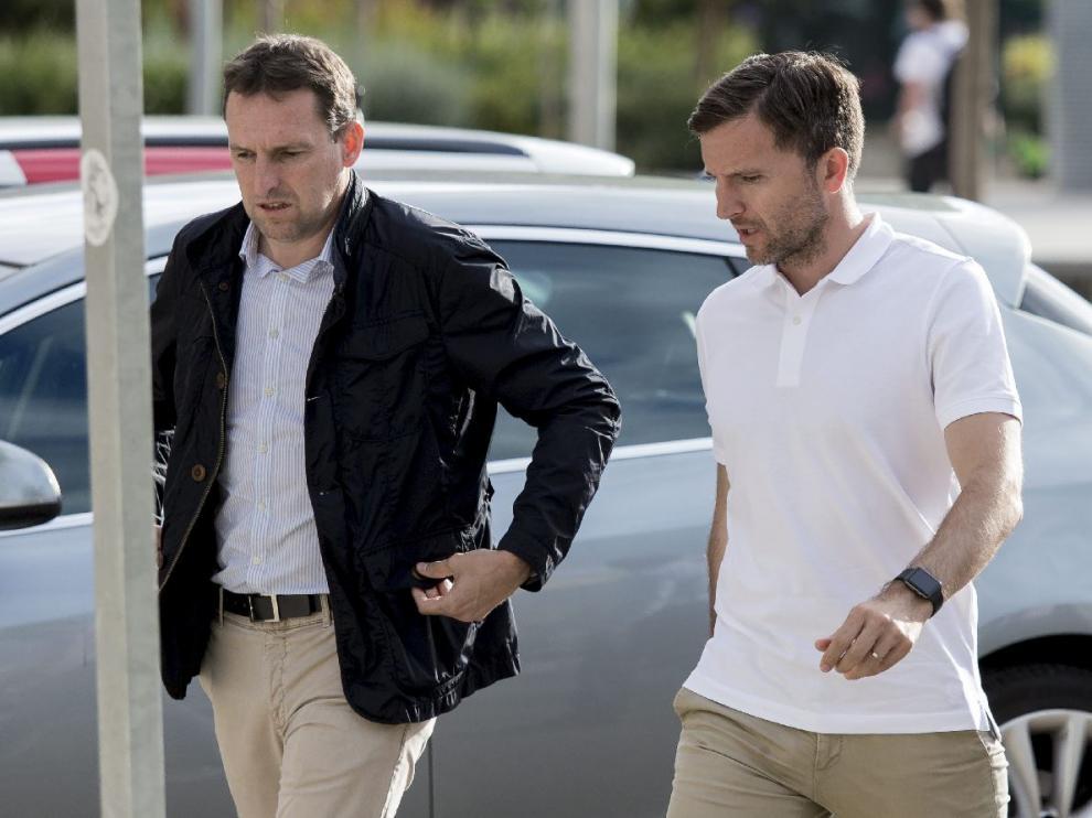 Luis Carlos Cuartero, director general del Real Zaragoza, junto con Lalo Arantegui, director deportivo.