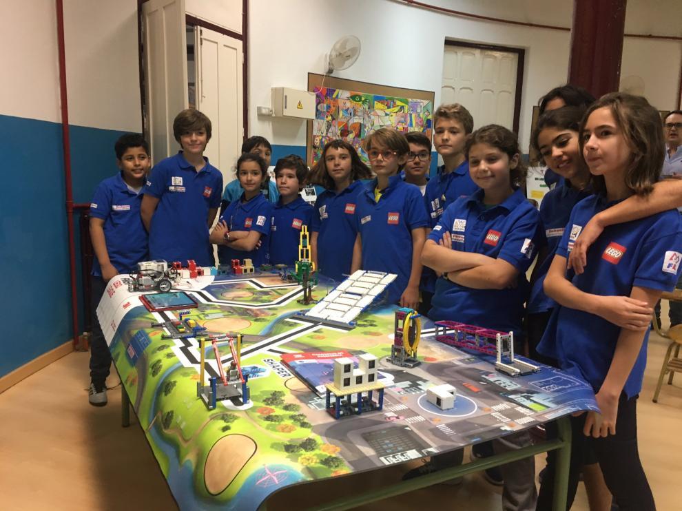 Presentación de la First Lego League en Aragón en el colegio Gascón y Marín de Zaragoza
