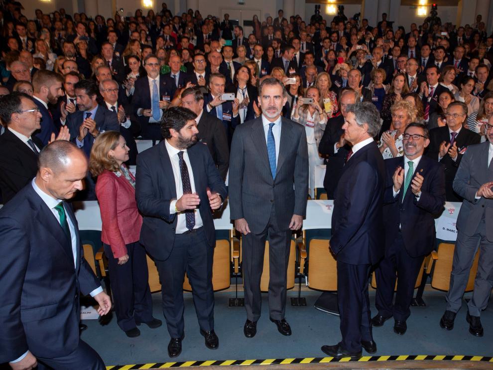 El Rey, en el Congreso de Empresa Familiar que se celebra en Murcia.