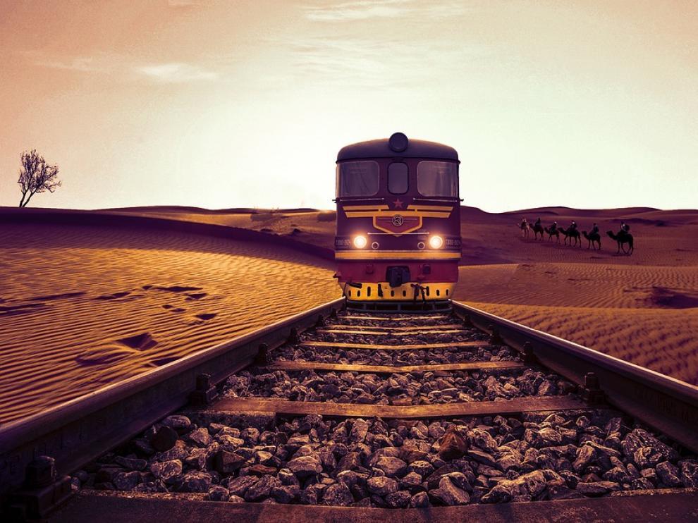 Imagen de un tren en Egipto.