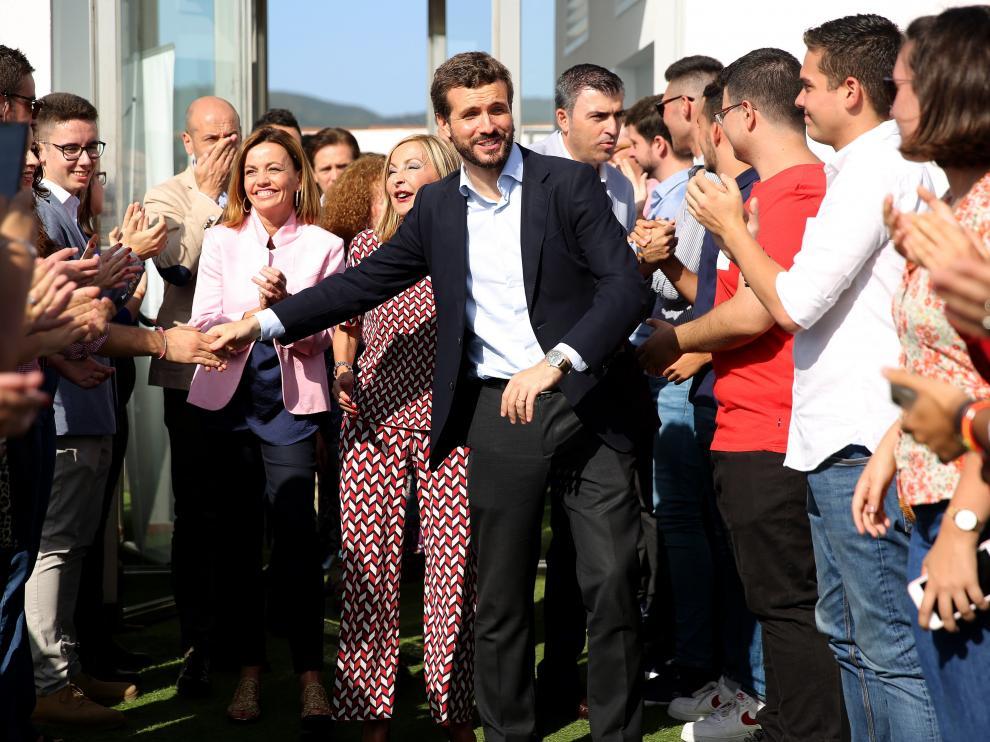 Pablo Casado, en un acto con simpatizantes del PP en Tenerife.