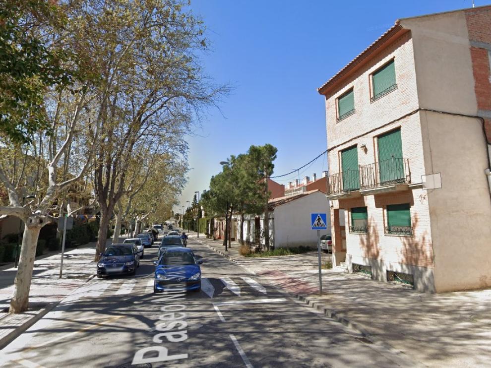 Calle de La Sagrada, en el barrio zaragozano de Monzalbarba.