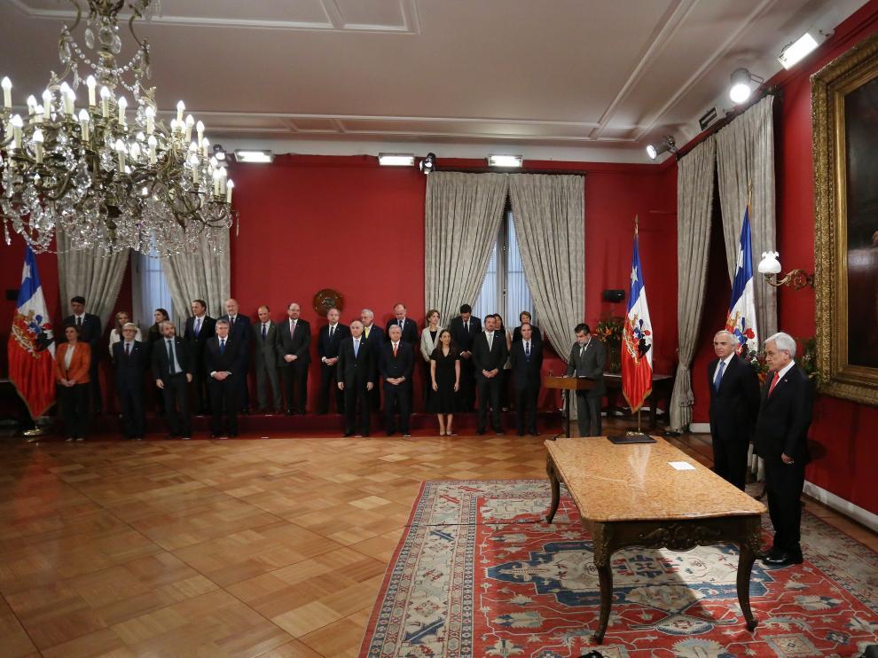 Ceremonia del cambio de gabinete ministerial