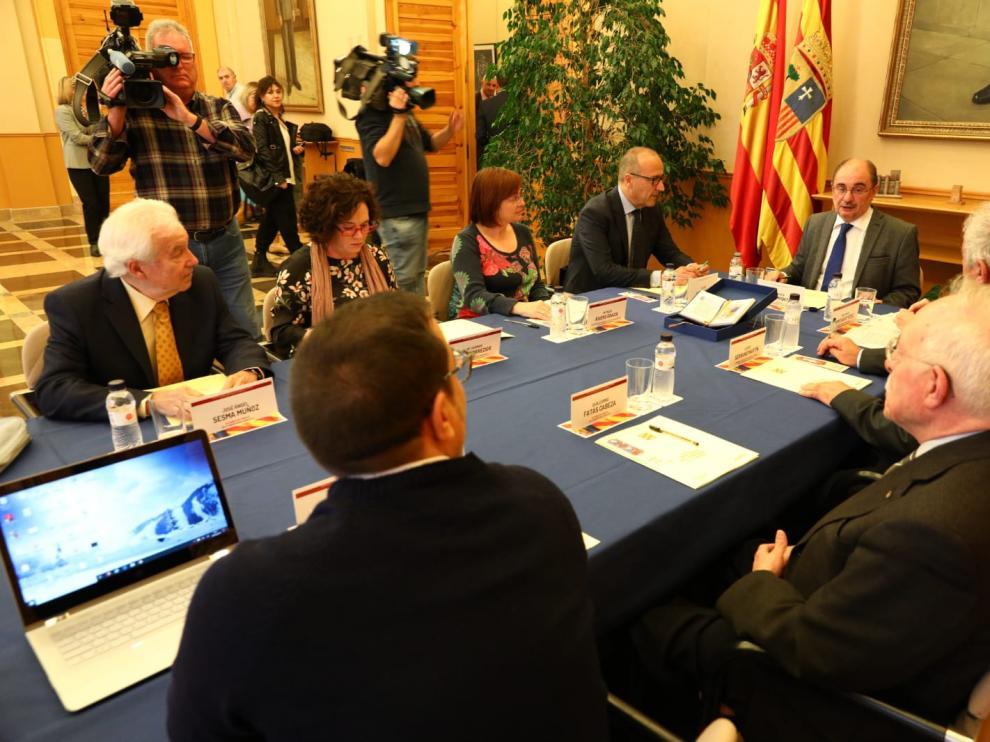 El Consejo Asesor para la Enseñanza de la Historia, en su reunión de ayer en el Pignatelli