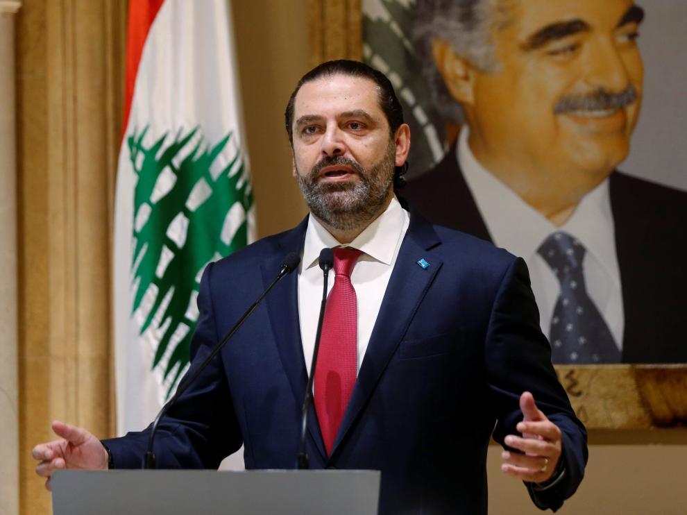 Lebanon's Prime Minister Saad al-Hariri speaks during a news conference in Beirut, Lebanon October 29, 2019. REUTERS/Mohamed Azakir [[[REUTERS VOCENTO]]] LEBANON-PROTESTS/RESIGNATION