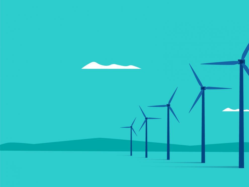 Energías renovables. Parque eólico.
