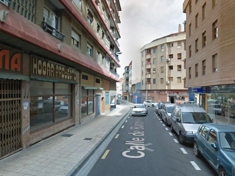 Calle de Barcelona de Zaragoza, donde se produjo la detención de la pareja.