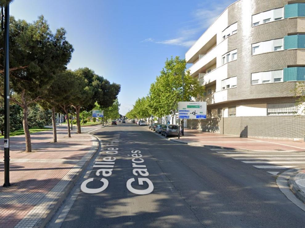 Calle Fray Lui Garcés, en el barrio de Torrero, donde se produjo una de las detenciones.