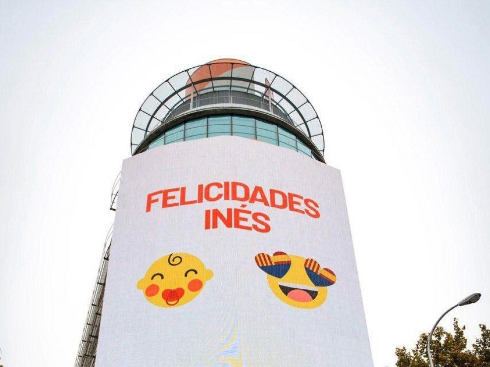 Cartel de felicitación a Inés Arrimadas
