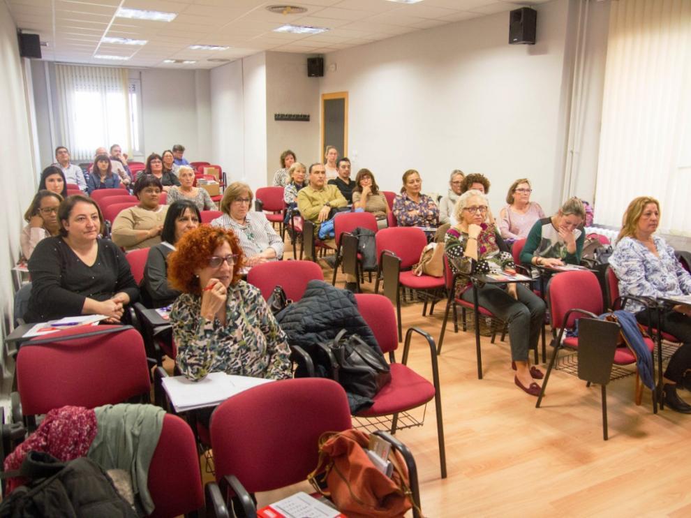 Asamblea realizada para presentar la campaña en Comisiones Obreras Aragón
