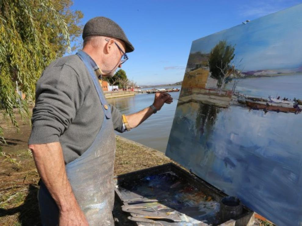 El certamen anual de pintura rápida en Mequinenza alcanza este año su XXI edición.