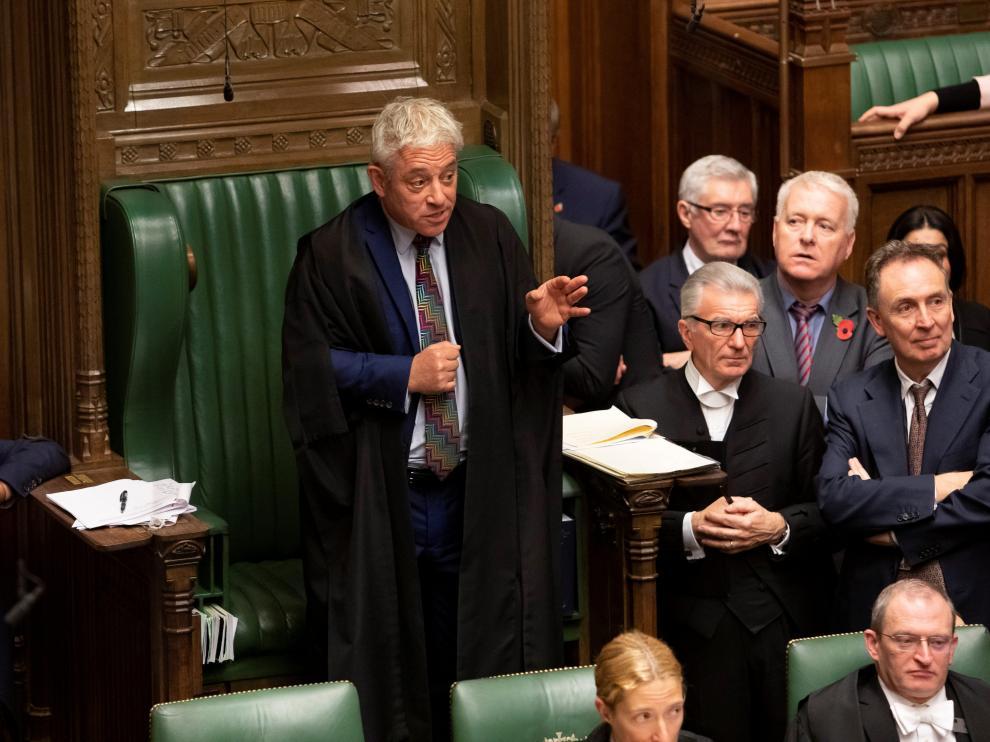 John Bercow, durante el debate del martes en el Parlamento británico.
