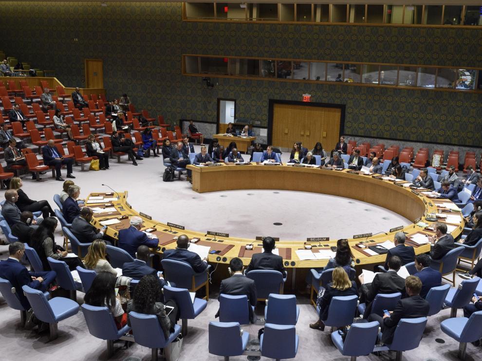 Pleno del Consejo de Seguridad en la sede de Naciones Unidad en Nueva York.