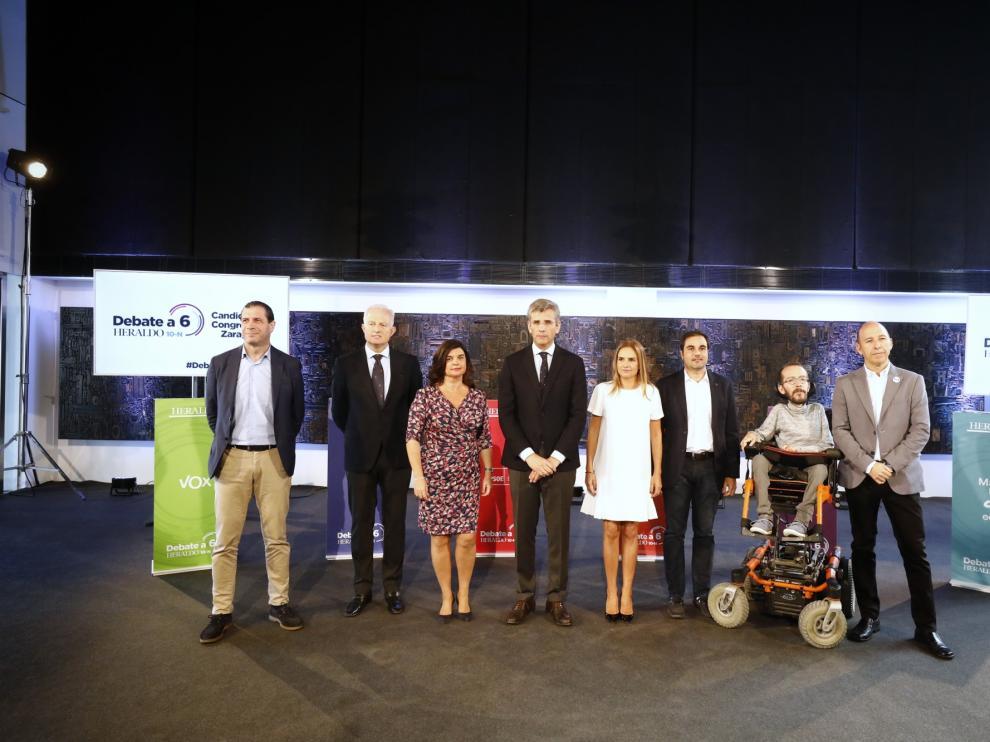 Debate de HERALDO con los seis candidatos al Congreso por Zaragoza para el 10-N