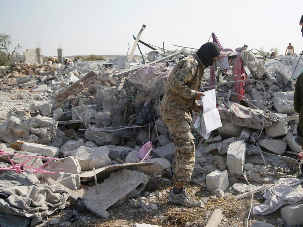 El lugar de la muerte de Bagdadi, una zona rural