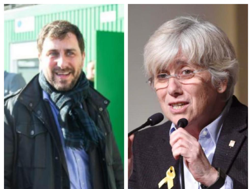 Los exconsellers Toni Comín y Clara Ponsatí.