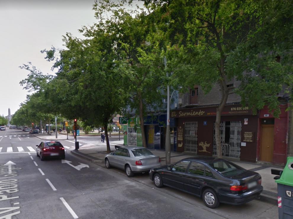Los hechos tuvieron lugar este miércoles en la avenida Pablo Gargallo, a la altura del número 41.