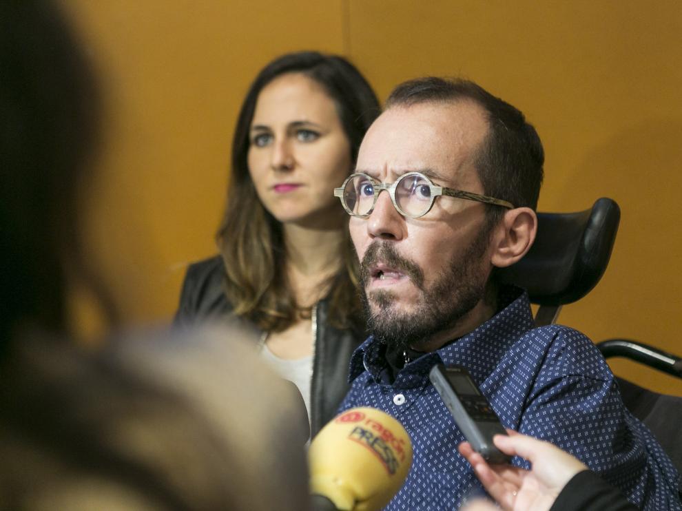 Pablo Echenique, el pasado 28 de octubre en Zaragoza.