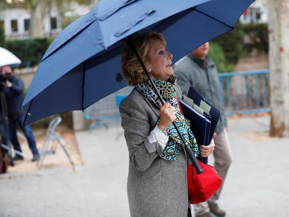 Esperanza Aguirre a su llegada, el pasado 18 de octubre, a la Audiencia Nacional.