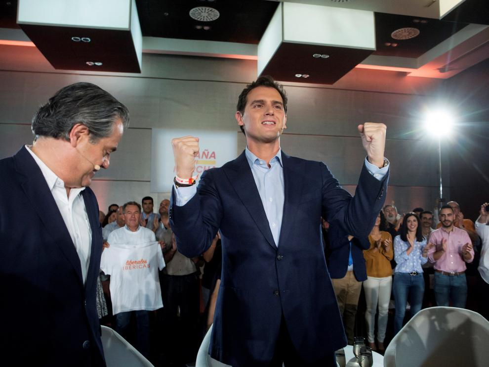 El líder de Ciudadanos, Albert Rivera, en un encuentro celebrado este viernes, 1 de noviembre..