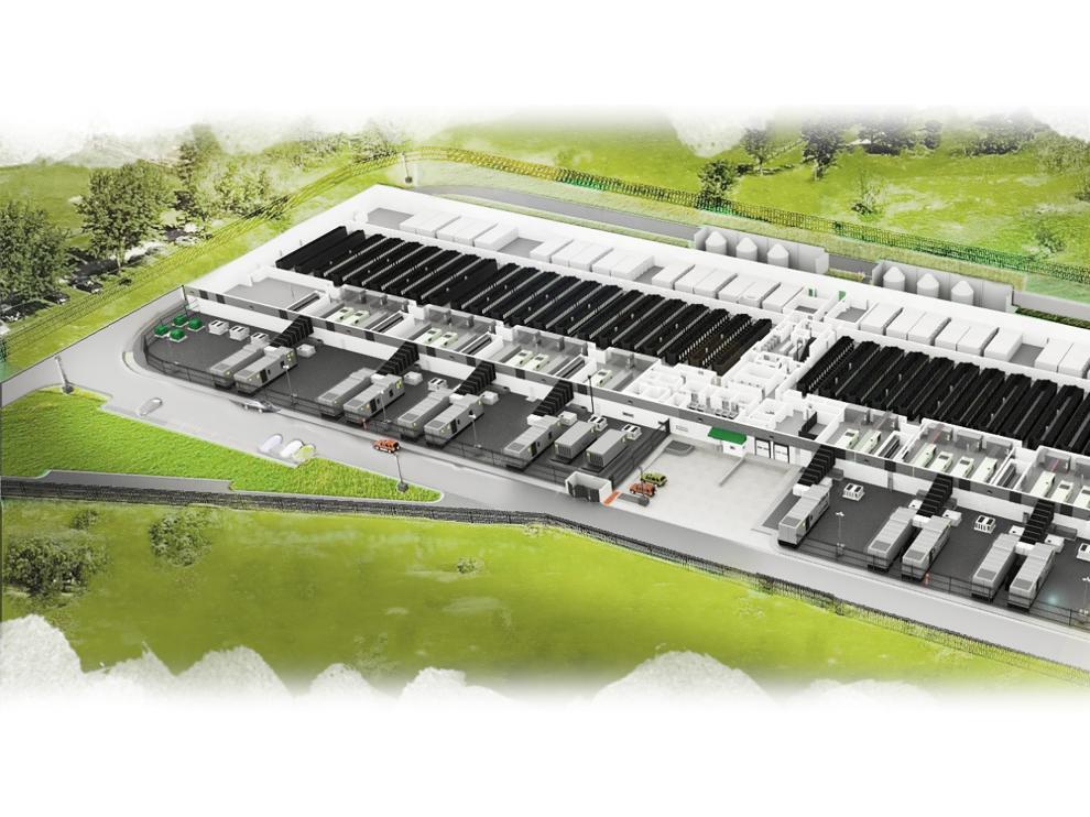 Recreación de los centros de datos de Amazón.