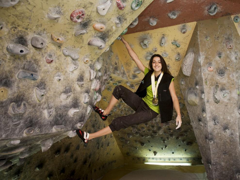 La escaladora Rebeca Pérez, en una foto de archivo.