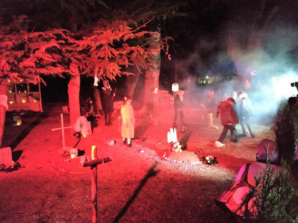 Las almetas de Lupiñen durante una de las escenas del recorrido.